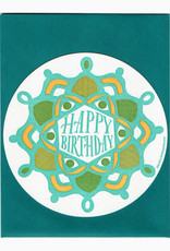 Blackbird Letterpress Happy Birthday Greeting Card
