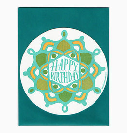 Blackbird Letterpress Happy Birthday Greeting Card