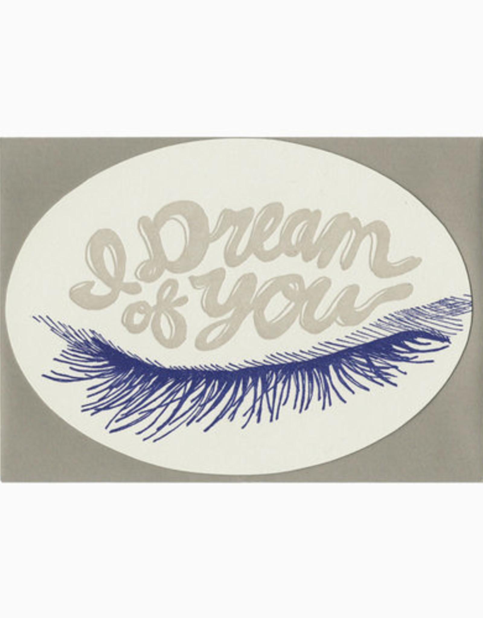 Blackbird Letterpress I Dream Of You Greeting Card