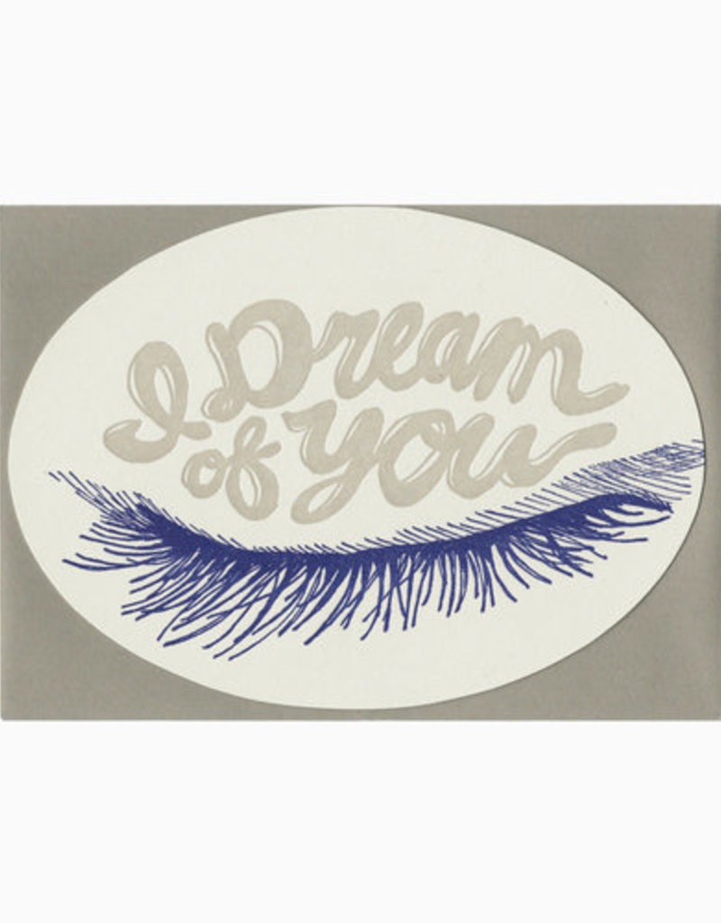 Blackbird Letterpress I Dream Of You Greeting Card