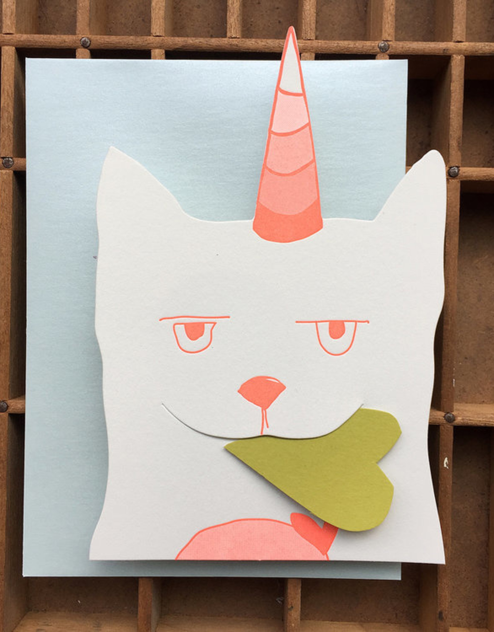 Caticorn Greeting Card