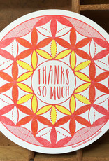Blackbird Letterpress Thanks So Much Greeting Card