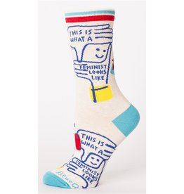 Blue Q This Is What A Feminist Looks Like Women's Crew Socks