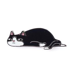 Natelle Draws Stuff Ennui Cat Enamel Pin