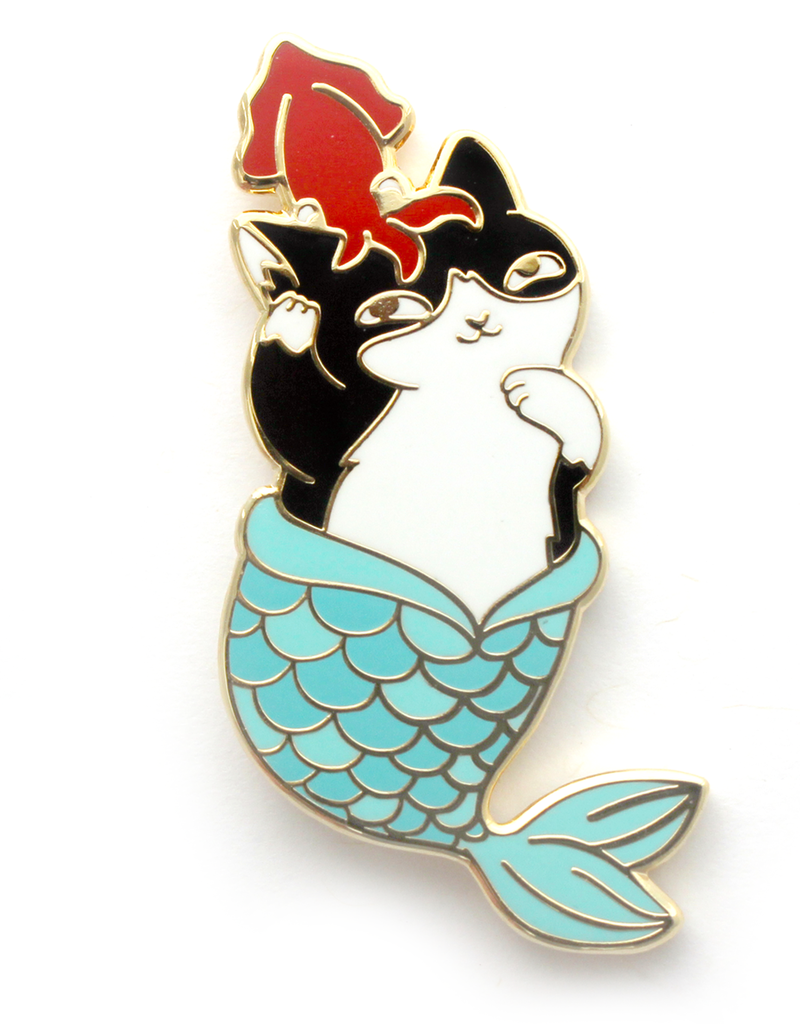 Natelle Draws Stuff Purrmaid Pals Enamel Pin