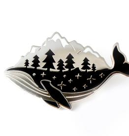 Natelle Draws Stuff Whale-derness Enamel Pin