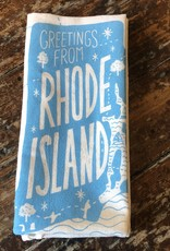 Noteworthy Paper & Press Greetings from Rhode Island Tea Towel