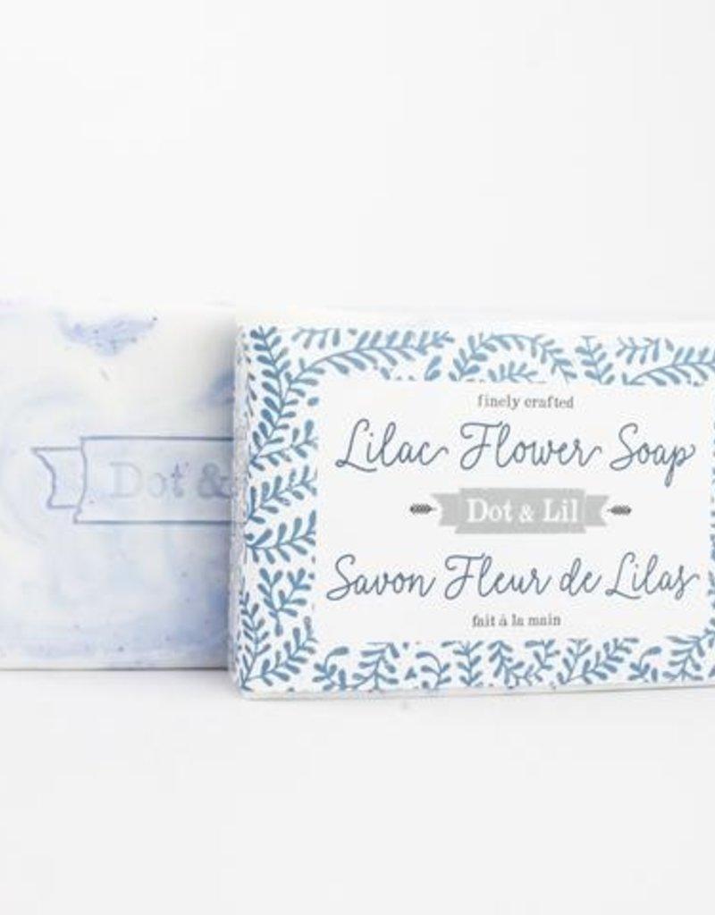 Dot & Lil Lilac Flower Soap