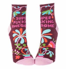 Blue Q Super Fucking Awesome Women's Ankle Socks