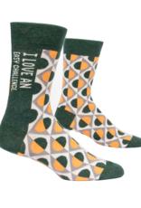 I Love An Easy Challenge Men's Crew Socks