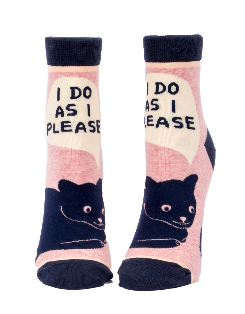 Blue Q I Do As I Please Women's Ankle Socks