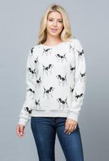 Dog Doodles Print Sweatshirt