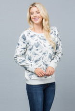LA Soul All Over Bird Print Sweatshirt