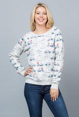 LA Soul All Over Bicycle Print Sweatshirt