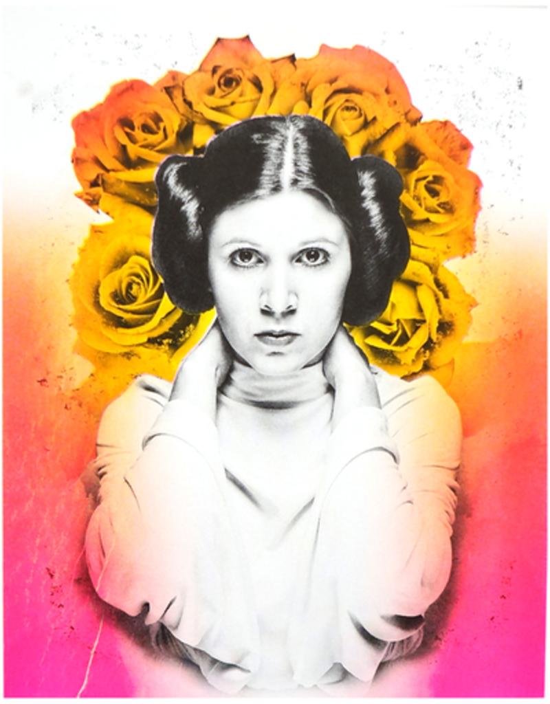 Authorized to Work Press Princess Leia Risograph Print