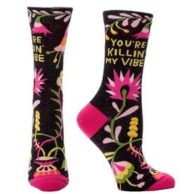 Blue Q You're Killin' My Vibe Women's Crew Socks