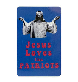 Jim Spinx Jesus Loves the Patriots Magnet