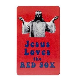 Jim Spinx Jesus Loves the Red Sox Magnet