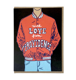 La Familia Green With Love From Providence (Jacket) Greeting Card