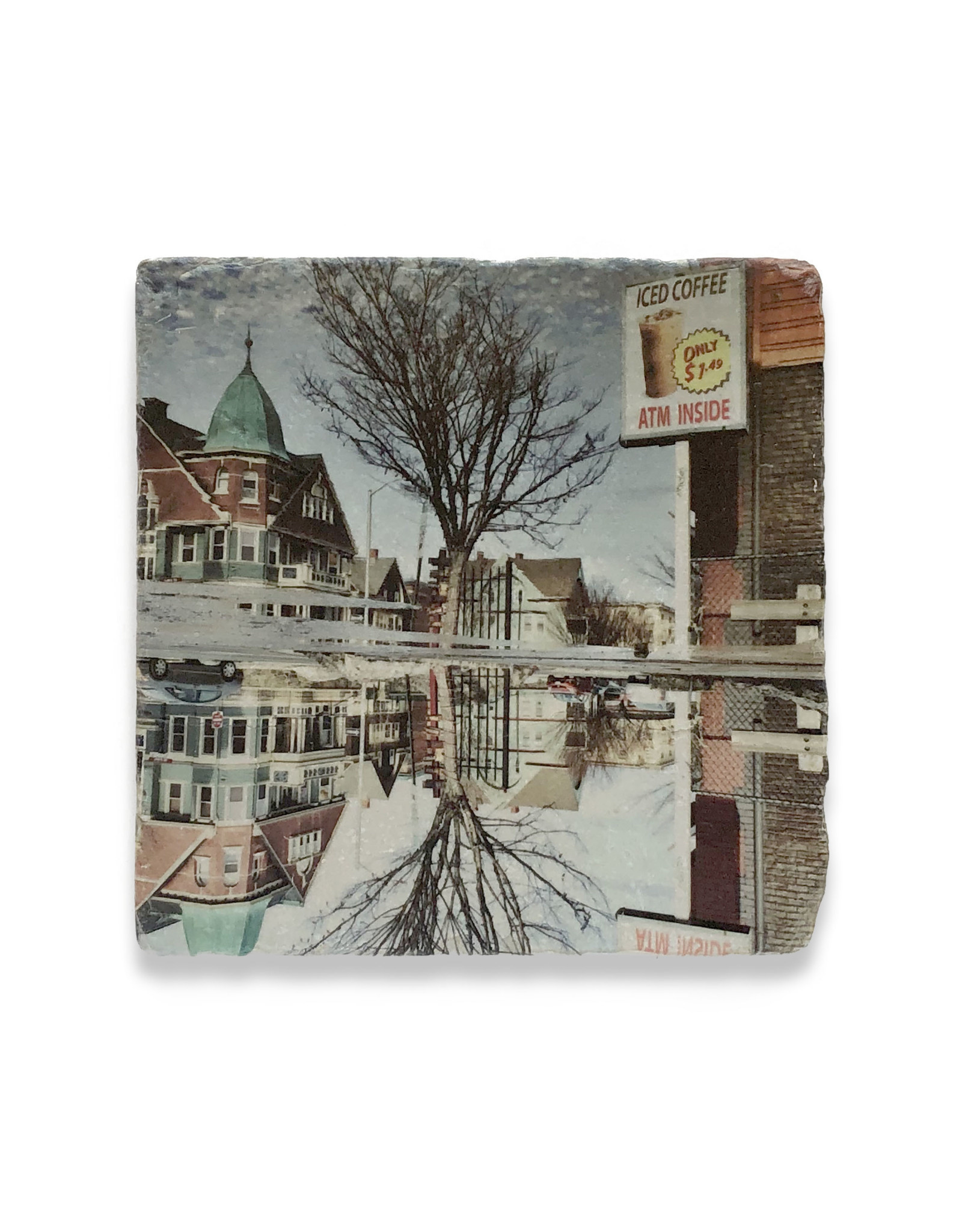 PVD Tree Reflection Coaster