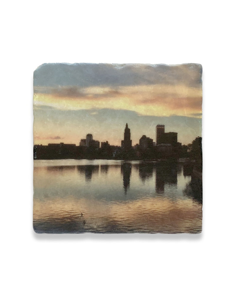 Steve Duque PVD Sunset River Skyline Coaster