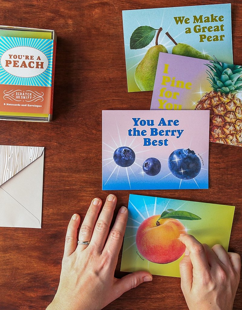 Chronicle Books You're A Peach: 8 Scratch & Sniff Notecards