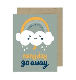 Allison Cole Rainy Day Go Away Greeting Card