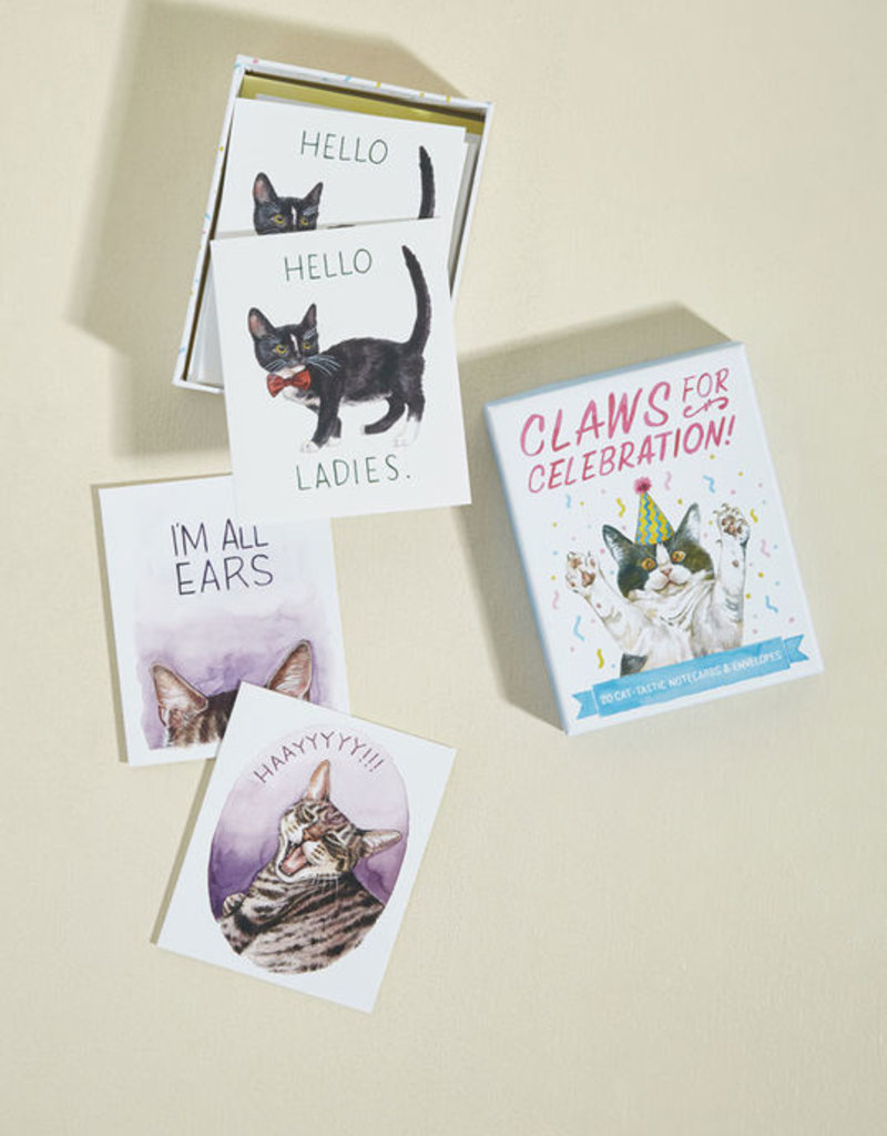 Chronicle Books Claws for Celebration Notecard Set