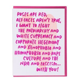 And Here We Are Woke Love Greeting Card