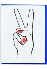 Peace Hand Greeting Card