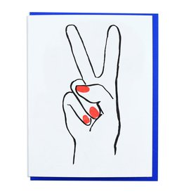 And Here We Are Peace Hand Greeting Card