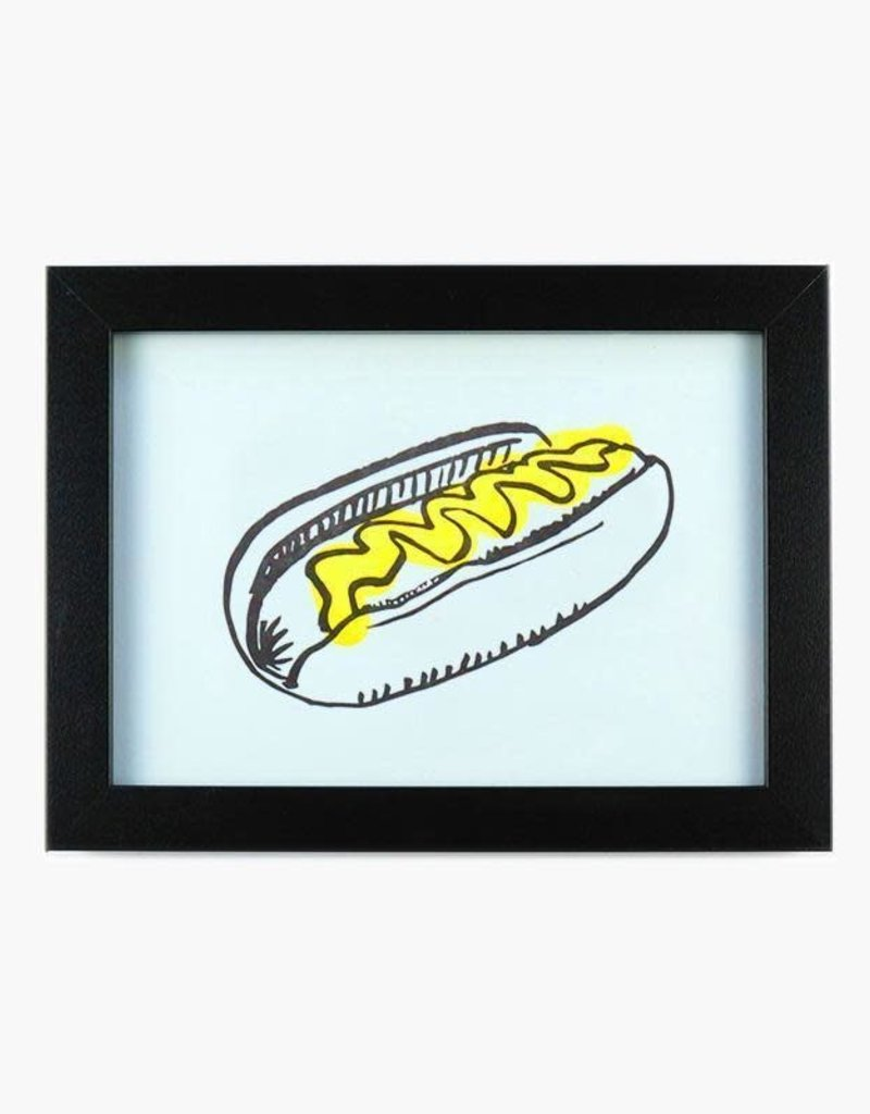 And Here We Are Hot Dog Letterpress Print