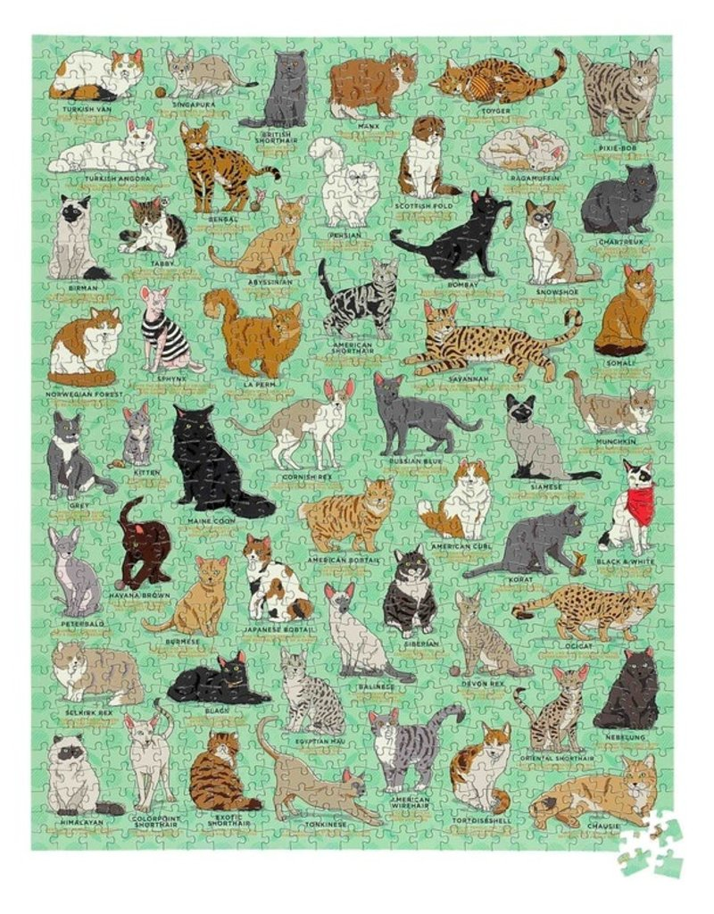 Wild and Wolf Cat Lovers 1000pc Puzzle