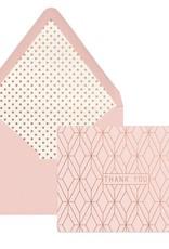 """DesignWorks Ink Geo Copper Foil """"Thank You"""" Cards"""