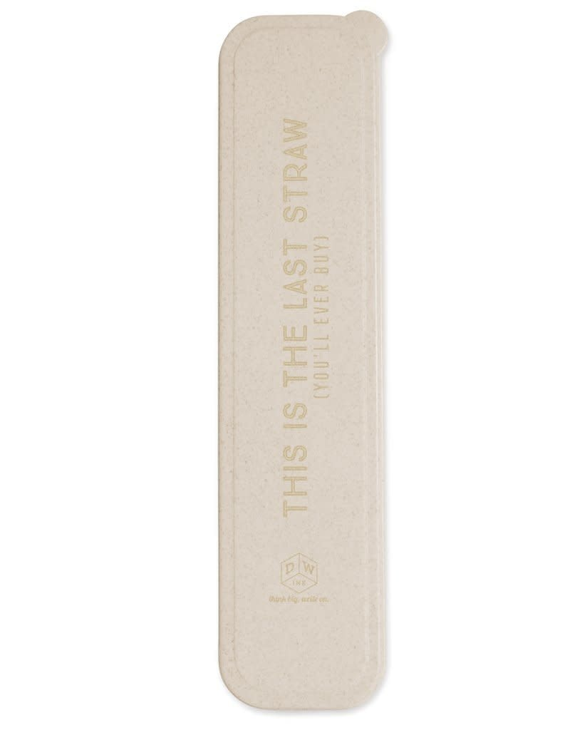 """DesignWorks Ink """"This Is The Last Straw"""" Stainless Steel Straw Kit"""