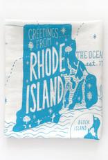 Greetings from Rhode Island Tea Towel