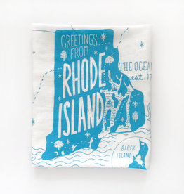 Greetings from Rhode Island Tea Towel