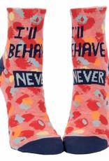 Blue Q I'll Behave Never Women's Ankle Socks