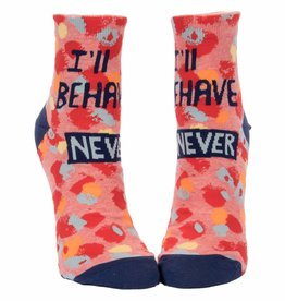 I'll Behave Never Women's Ankle Socks