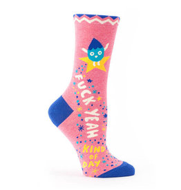 Blue Q Fuck Yeah Kind Of Day Women's Crew Socks