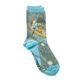 Blue Q Here Comes Trouble Women's Crew Socks
