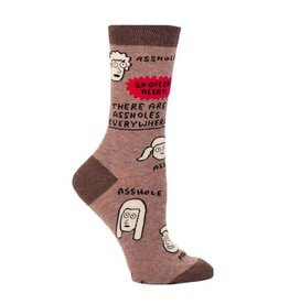 There Are Assholes Everywhere Women's Crew Socks