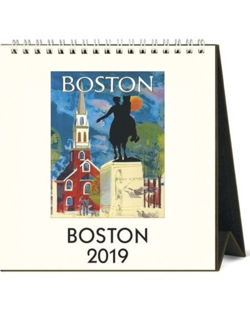 Cavallini 2019 Desk Calendar : Boston
