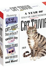 Workman Publishing Group Cat Trivia Pad Calendar 2019