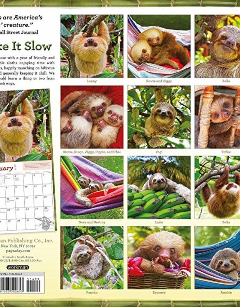 Workman Publishing Group Sloths Wall Calendar 2019