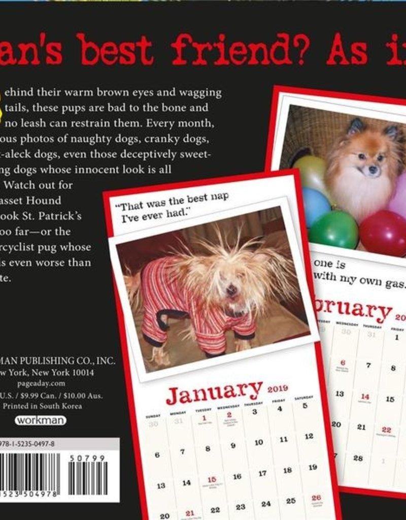 Workman Publishing Group Bad Dog Mini Wall Calendar 2019