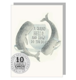 The Regional Assembly of Text Hello Whales Boxed Card Set of 10