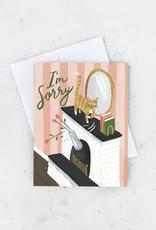 Idlewild Co I'm Sorry Cat Greeting Card