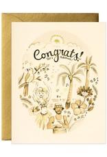 Tropical Congrats Greeting Card