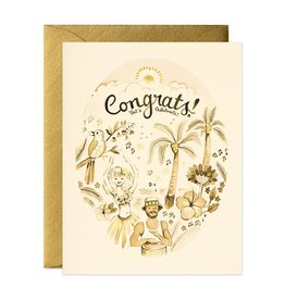 Tropical Congrats Greeting Card